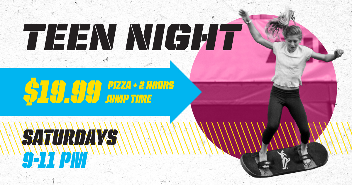 House Of Air Crowley, indoor trampoline park, Teen Night