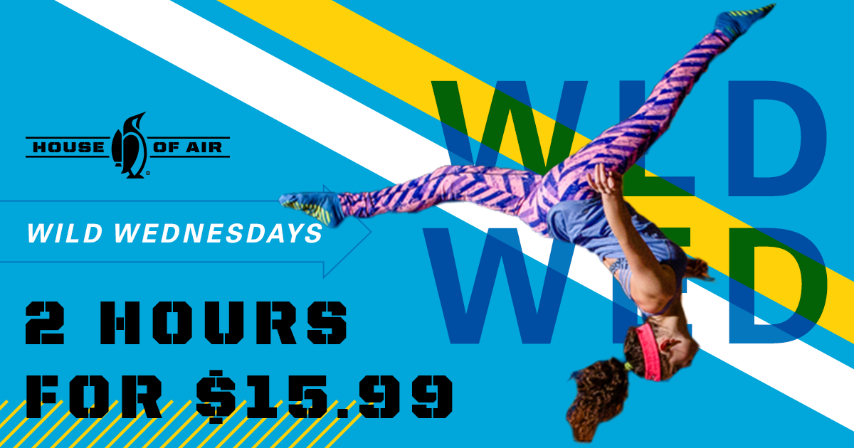 House Of Air Crowley, indoor trampoline park, Wild Wednesdays