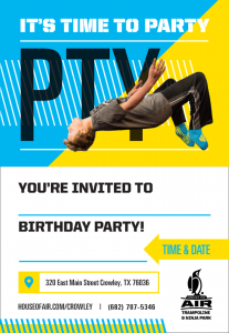 House of Air Crowley - birthday party invitations