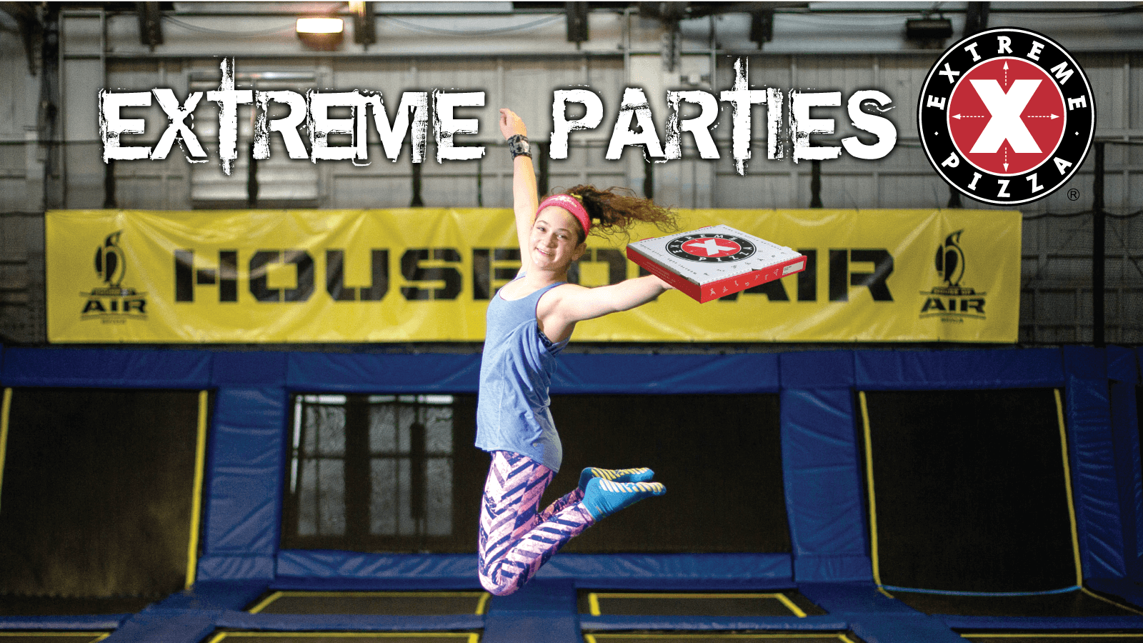 Parties at House of Air are Extreme with Extreme Pizza