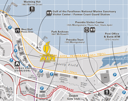 Presidio Parking Map